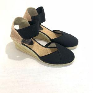 Lauren Ralph Lauren Charla Black Wedge Sandals